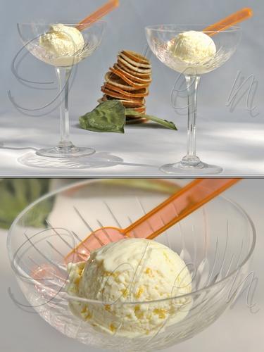 Йогуртовое мороженое с агавой и апельсином
