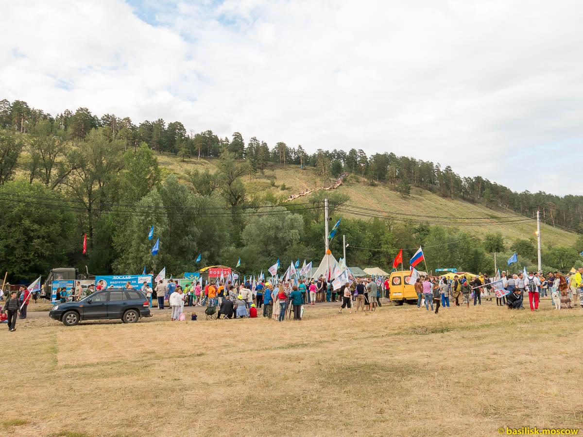 Парад памяти на Грушинском фестивале. Июль 2015.