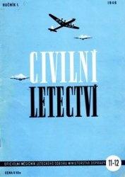 Журнал Civilni letectvi 1946-11/12