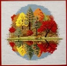 Журнал Схема для вышивки Осенние краски