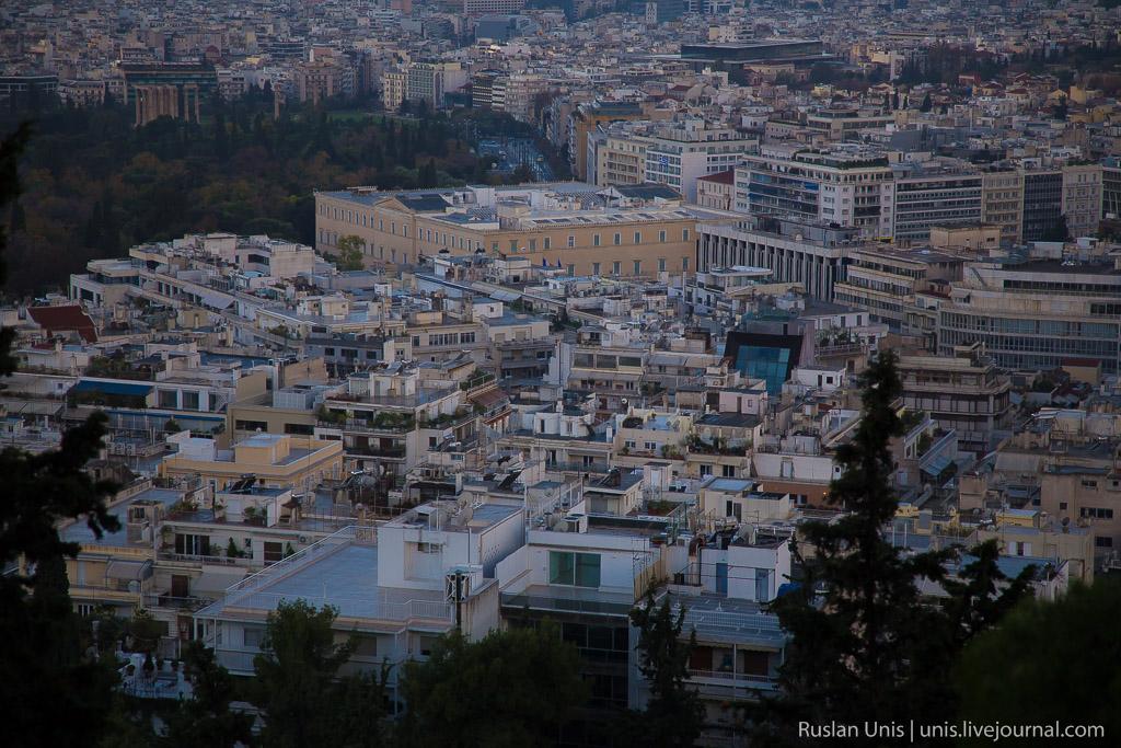 Афины гора Ликавитос