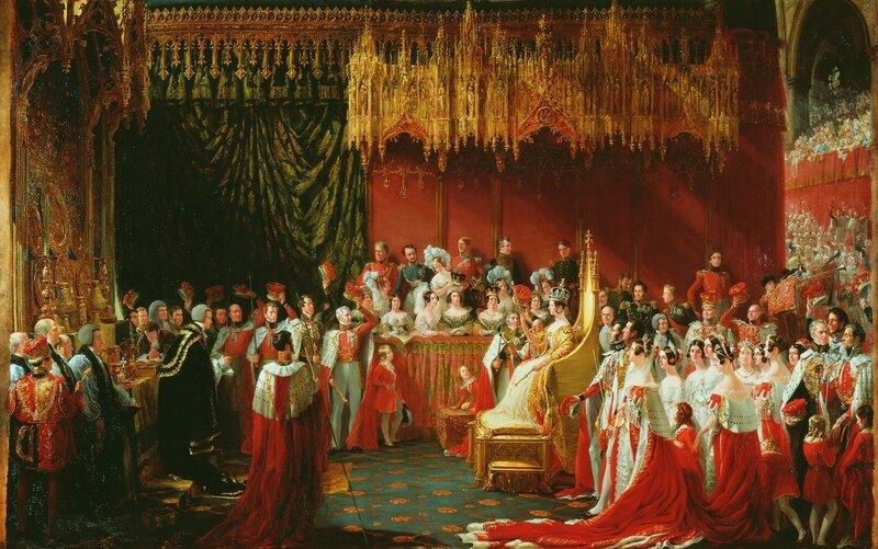 Сэр Хейтер (1792-1871)Коронация королевы Виктории в Вестминстерском аббатстве, 28 июня 1838 г.