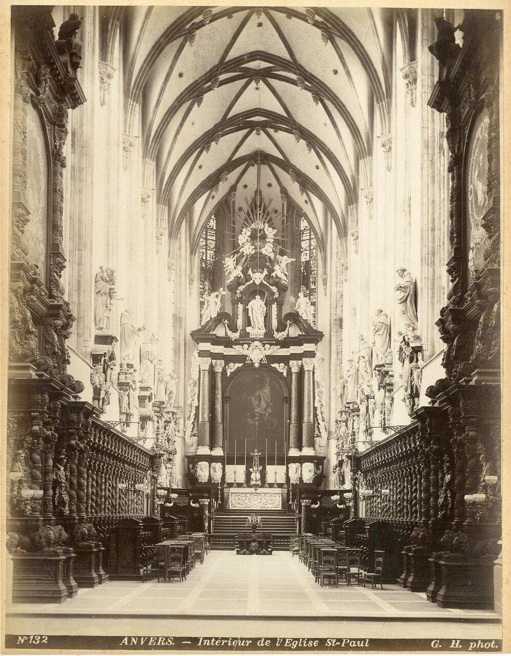 1880-е. Интерьер церкви Святого Павла