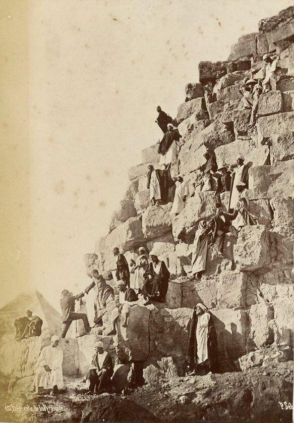 Гиза. Подъем на Великую пирамиду. 1890-е
