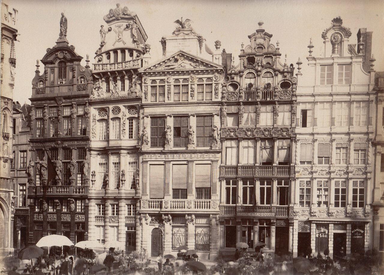 Дом Гильдий на площади Гран-плас. 1875