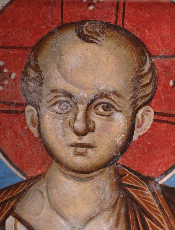 Христос Эммануил. Фреска в церкви Св. Димитрия Маркова монастыря, Македония. Около 1376 года.