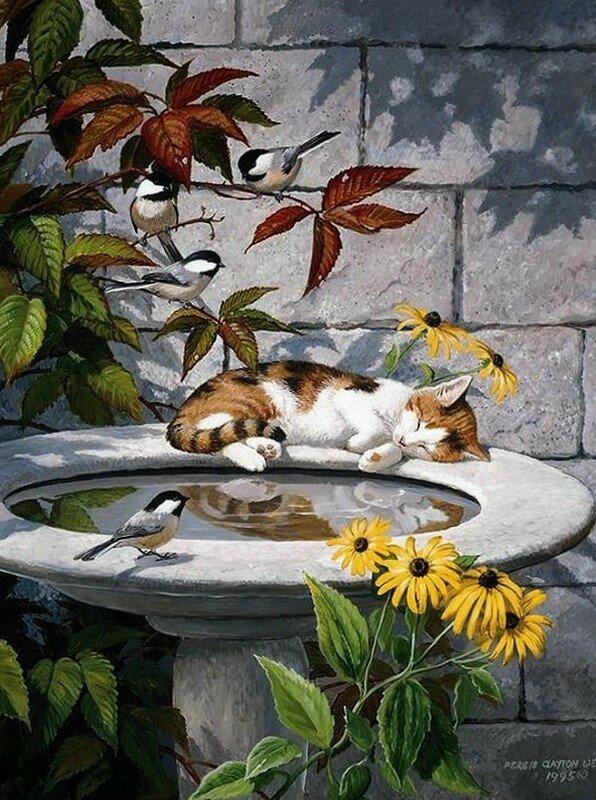 Persis Clayton Weirs.jpg. О проказниках кошках. Где угодно кошки спят! Кошки спят, где захотят!