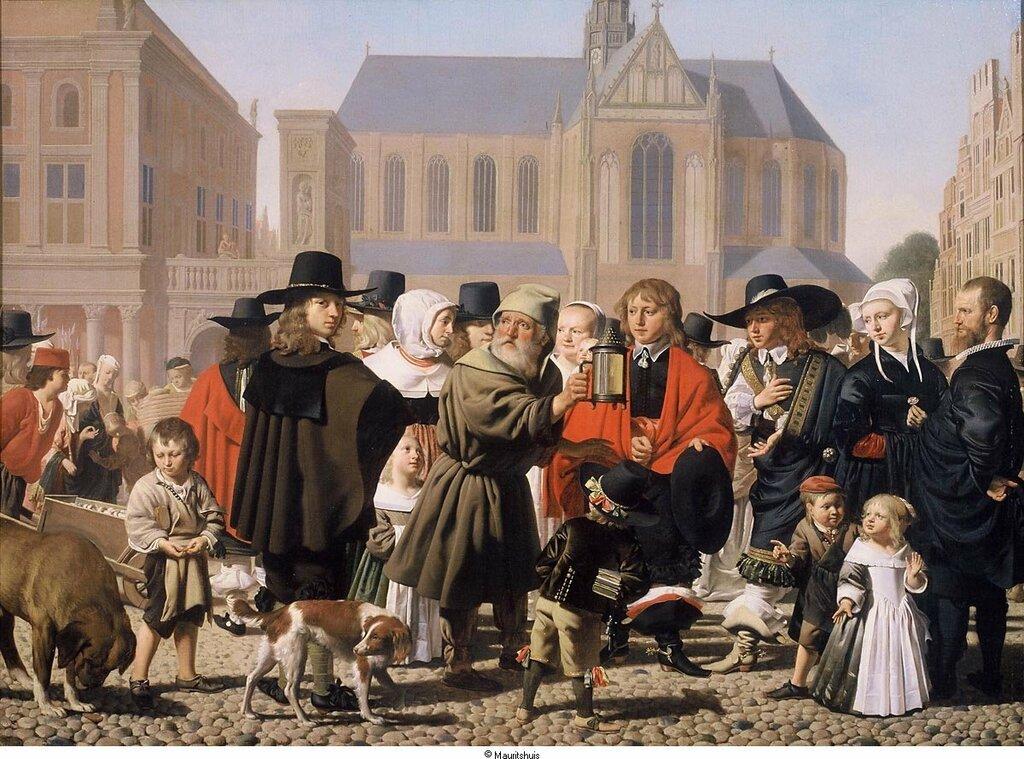 Everdingen, Caesar Boetius van - Диоген ищет Человека (Исторический портрет семьи Стейн (Steyn), 1652, 75,9 cm x 103,6 cm, Холст, масло.jpg