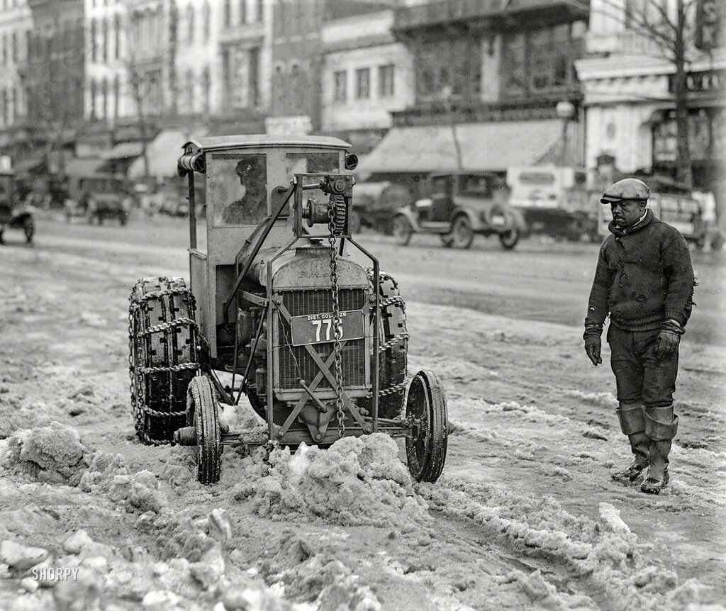 Washington, D.C., 1925. Snow removal - Ford tractor