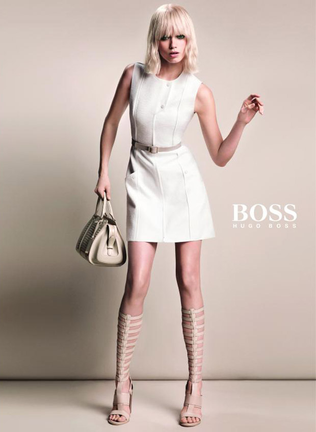 Эбби Ли Кершоу (Abbey Lee Kershaw) в рекламной фотосессии для Hugo Boss