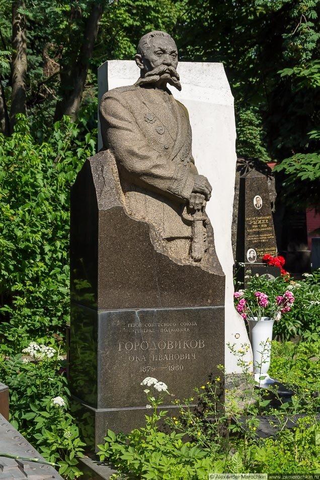 Городовиков Ока Иванович. Могила на Новодевичьем кладбище