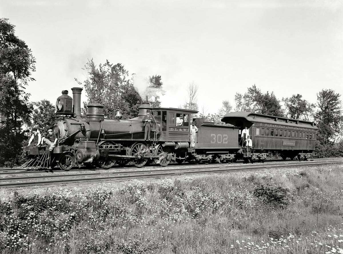 Железные дороги конца 19-го - начала 20-го века на снимках американских фотографов (12)
