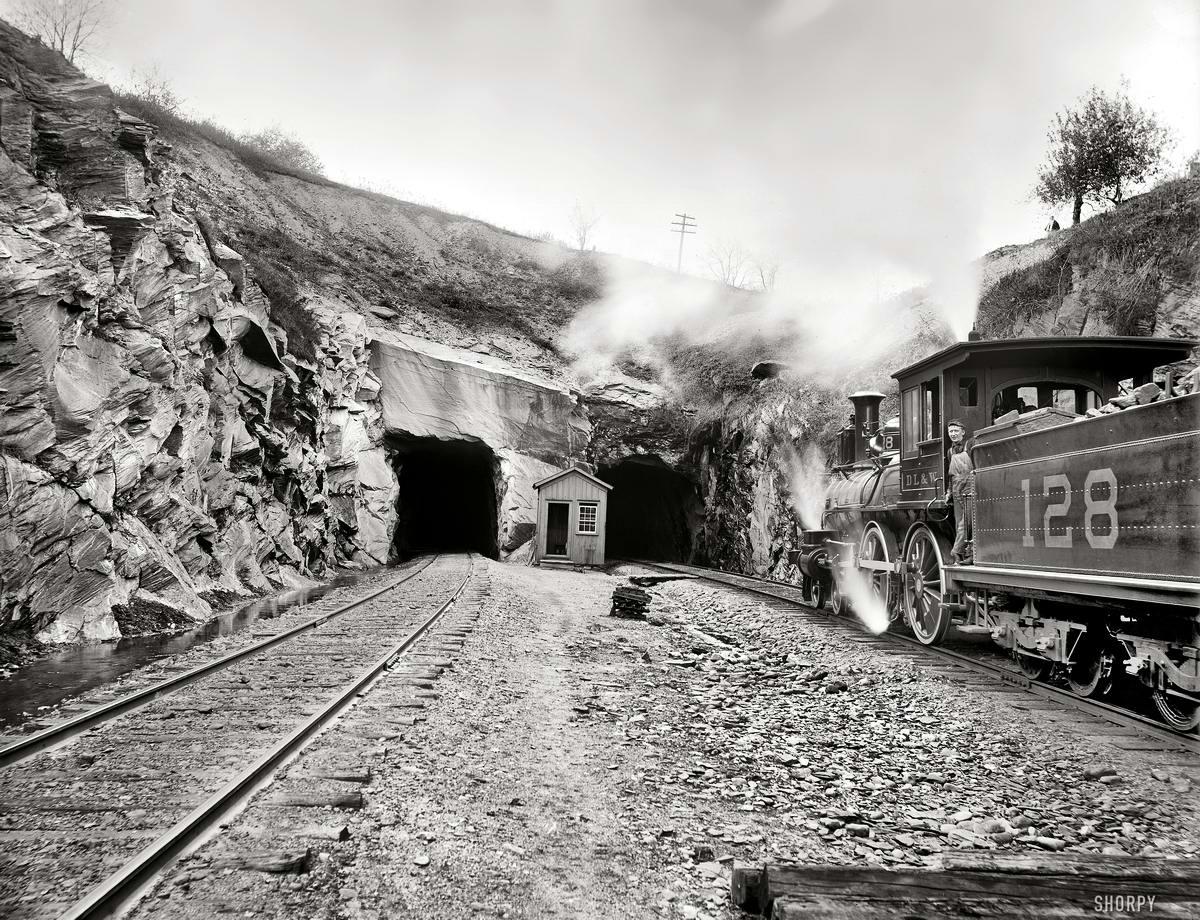 Железные дороги конца 19-го - начала 20-го века на снимках американских фотографов (30)