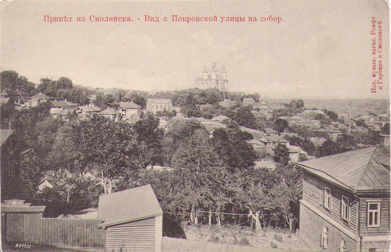 Вид с Покровской улицы на собор