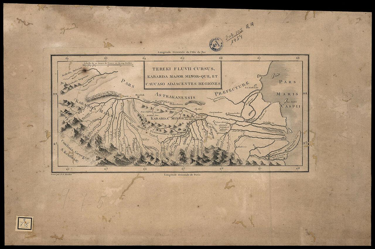 1770-е. Карта окрестностей Терека