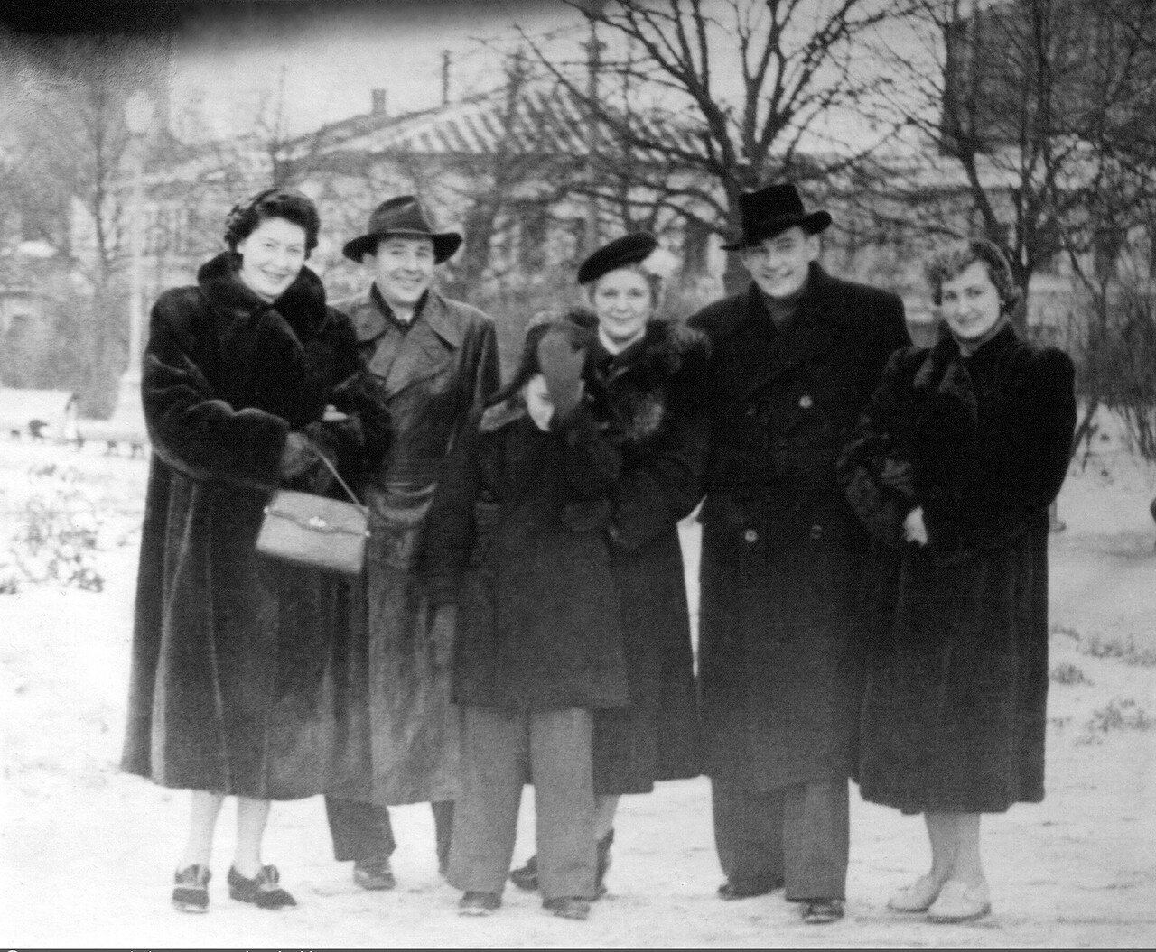 1953. Москва. Сквер. Площадь Журавлёва