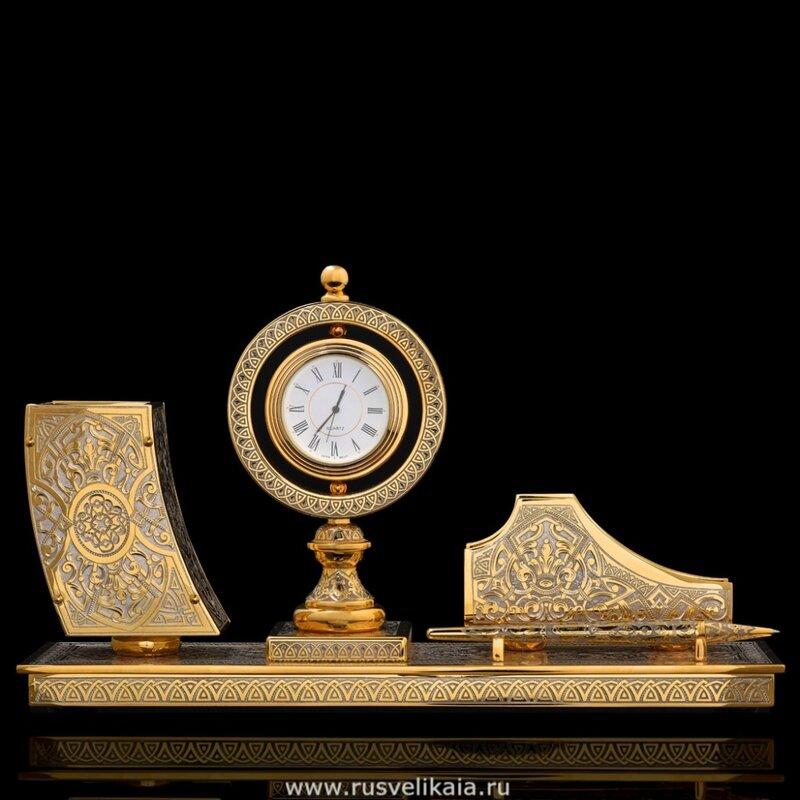 Настольный набор с ручкой Златоуст (фото 2)