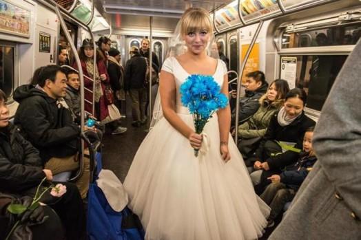Свадьба в метро Нью Йорка