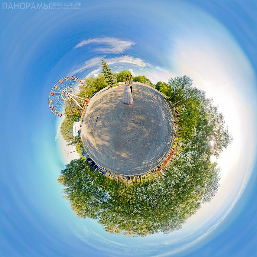 Владимир и Ольга Голишевские, свадебная планета в парке 500летия Чебоксар | Виртуальный тур