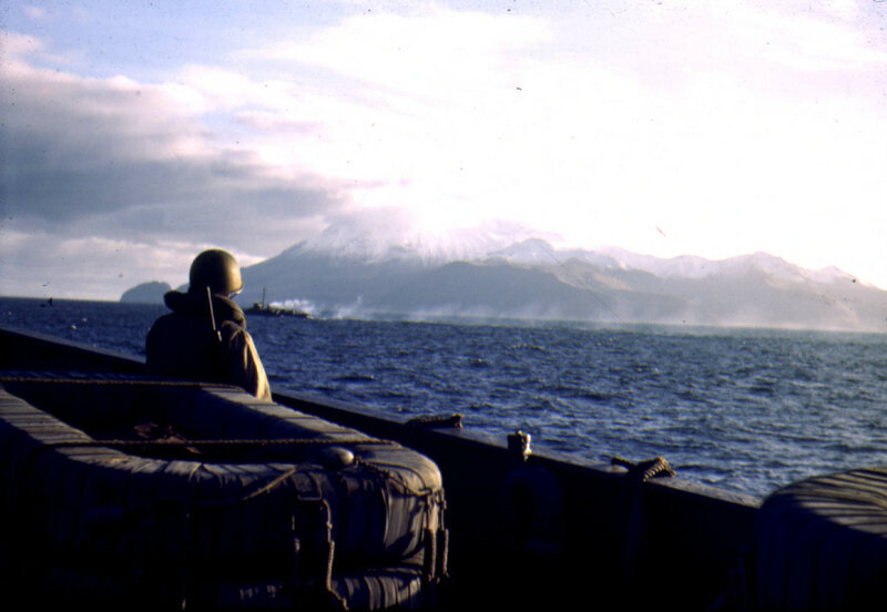 1943. Great Sitkin Volcano, near Adak