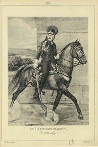 660. КОННО-ЕГЕРСКИЙ ОФИЦЕР в 1788 году.