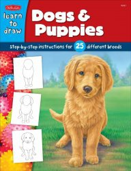Книга Dogs & Puppies: Step-by-step instructions for 25 different dog breeds (Learn to Draw)