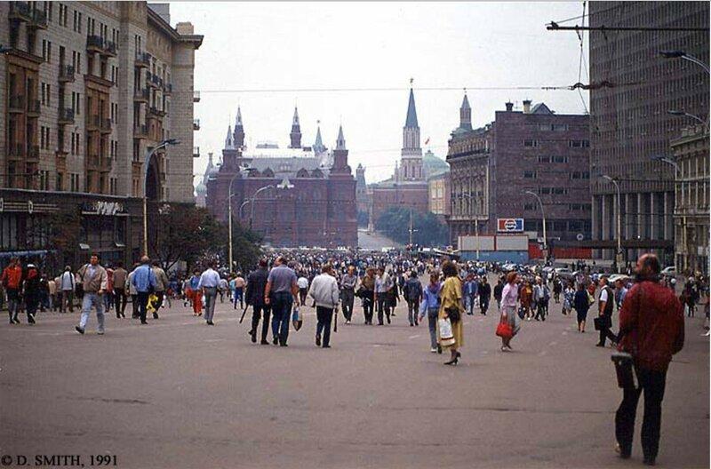 Тверская улица во время путча