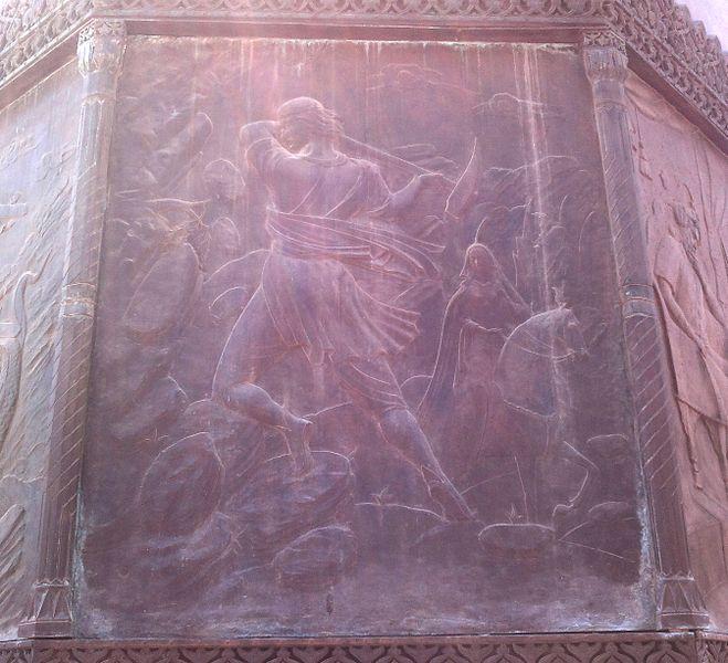 659px-Барельеф_Фархада_на_памятнике_Низами_в_Баку.jpg