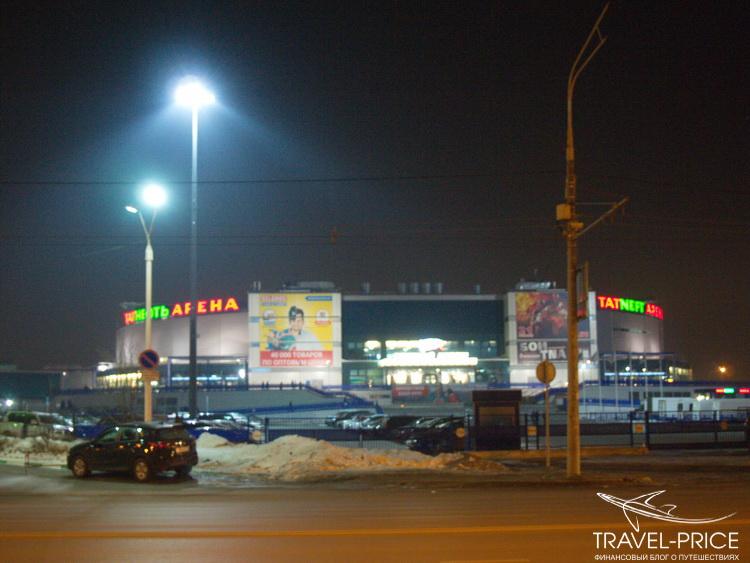 Татнефть-Арена ночью