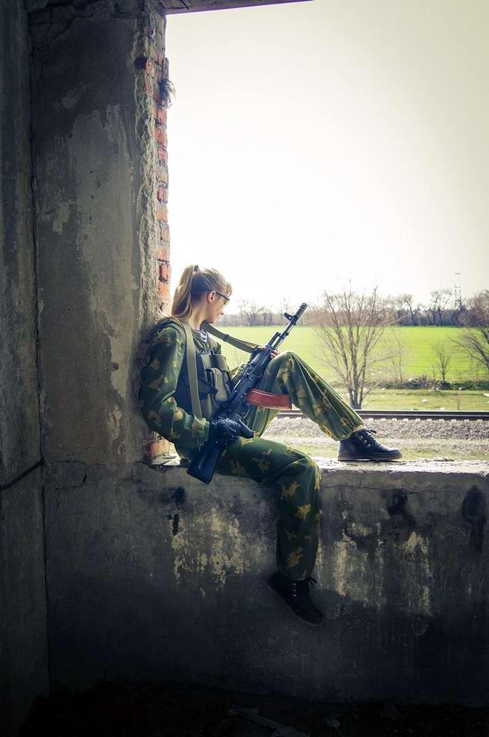 Боевые подруги: Фотосессия в стиле Military - лазертаг клуб - Отряд 61 - (Ростов-на-Дону) (6)