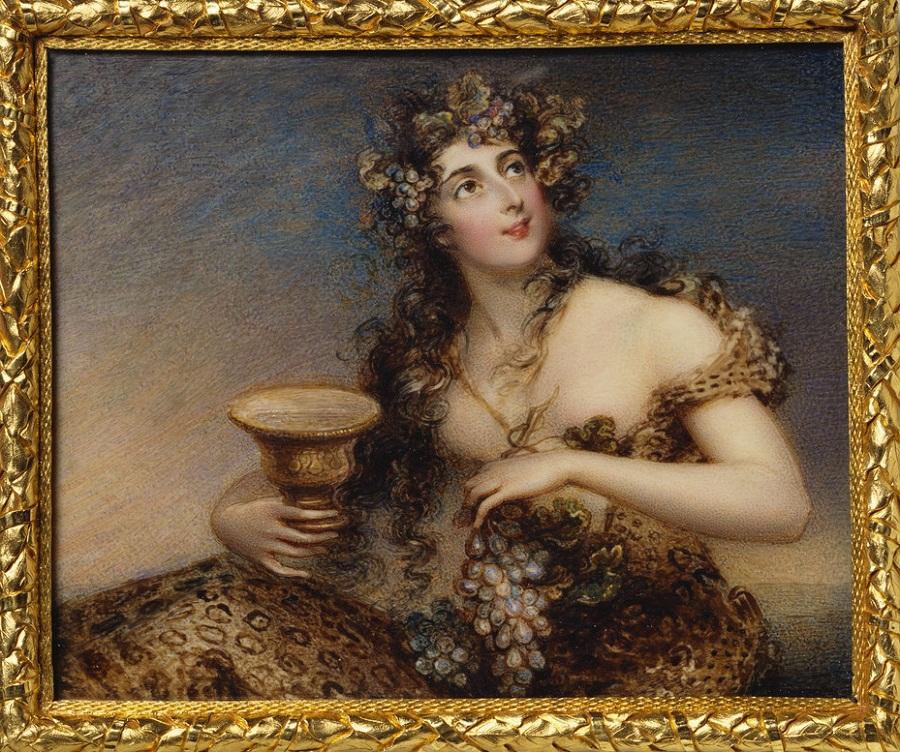Леди Abdy (1788 / 9-1875)  письменами 1813