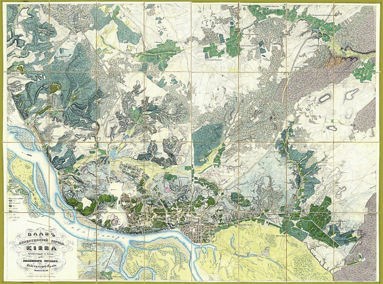 1842. План окрестностей Киева