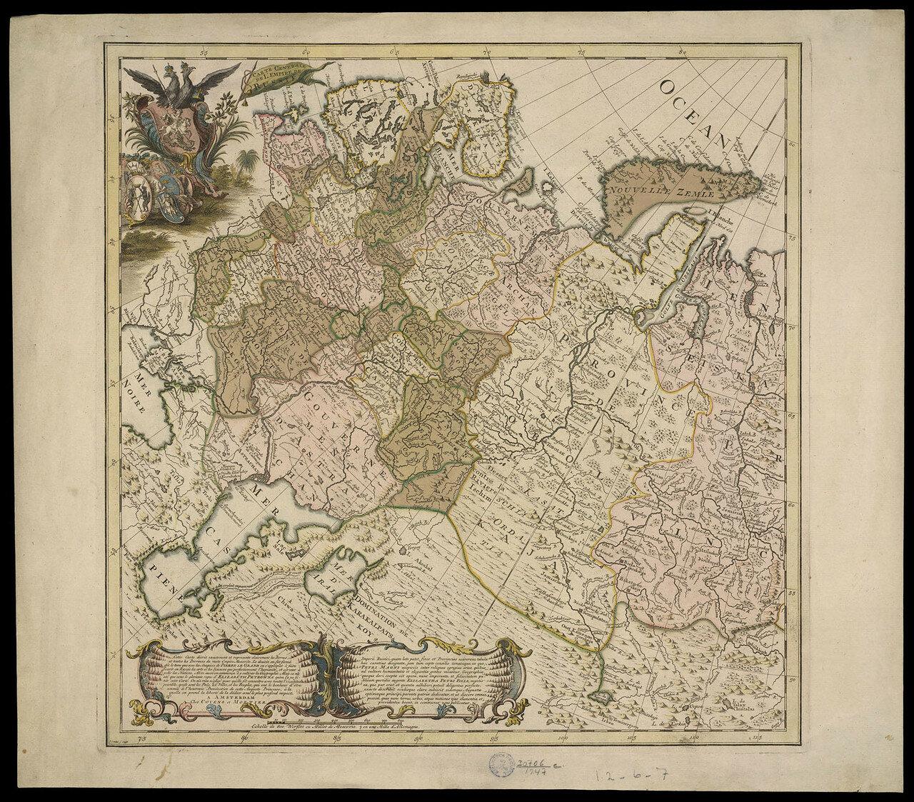 1748. Карта Российской империи