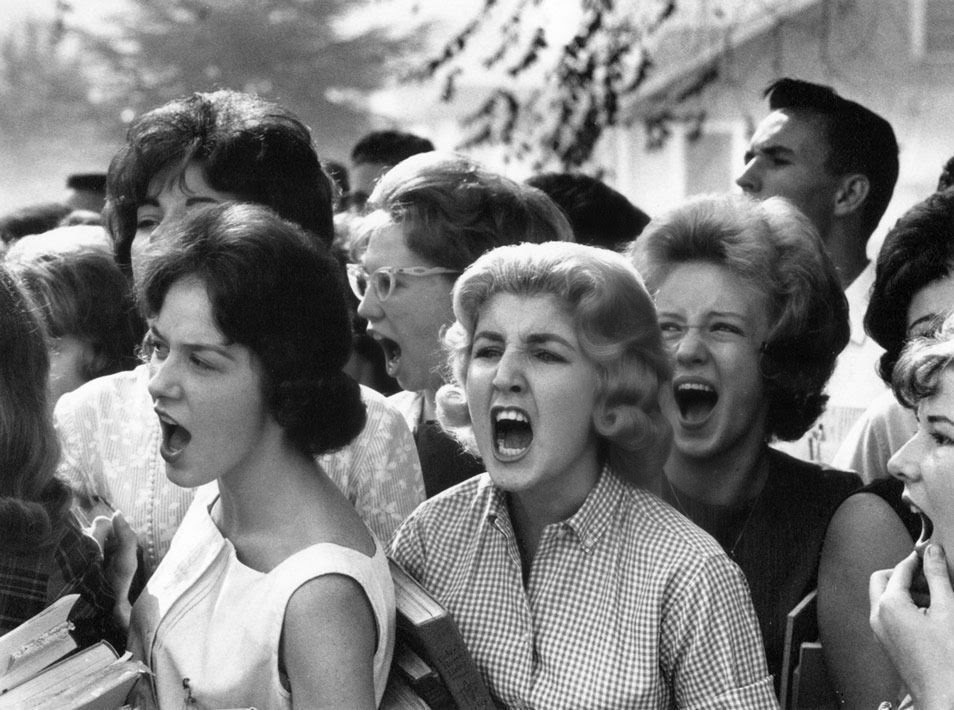 Red State White high school students cursing black students in Montgomery, Alabama, 1963.jpg