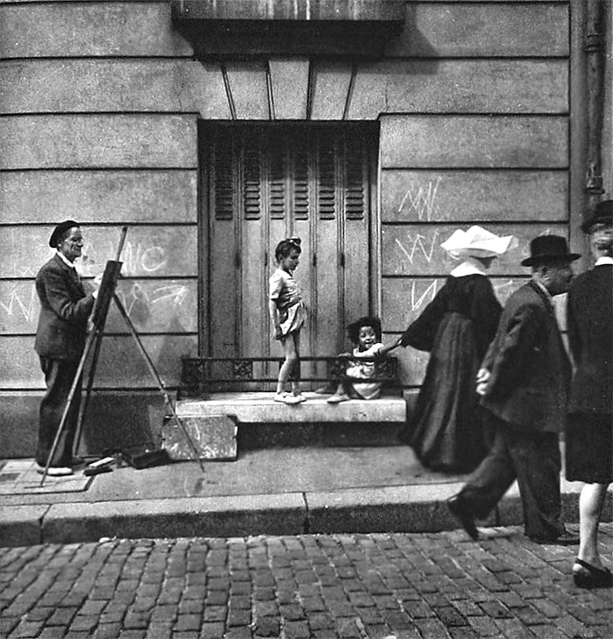 Painter in Montmartre, Paris, 1949 .Photographer_ Cas Oorthuys, The Netherlands
