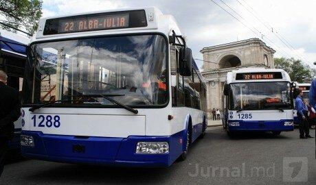 В Кишинёве продолжат проект по сборке новых троллейбусов