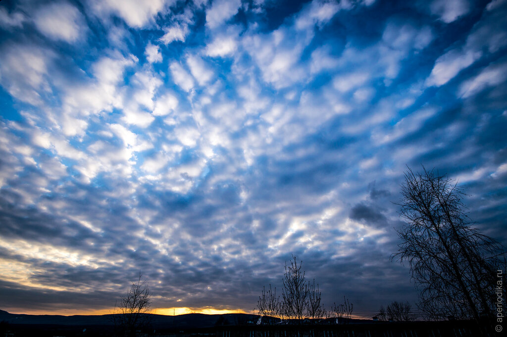 Весеннее златоустовское небо