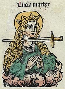 Martyr gorge tranchée (Chroniques de Nuremberg).