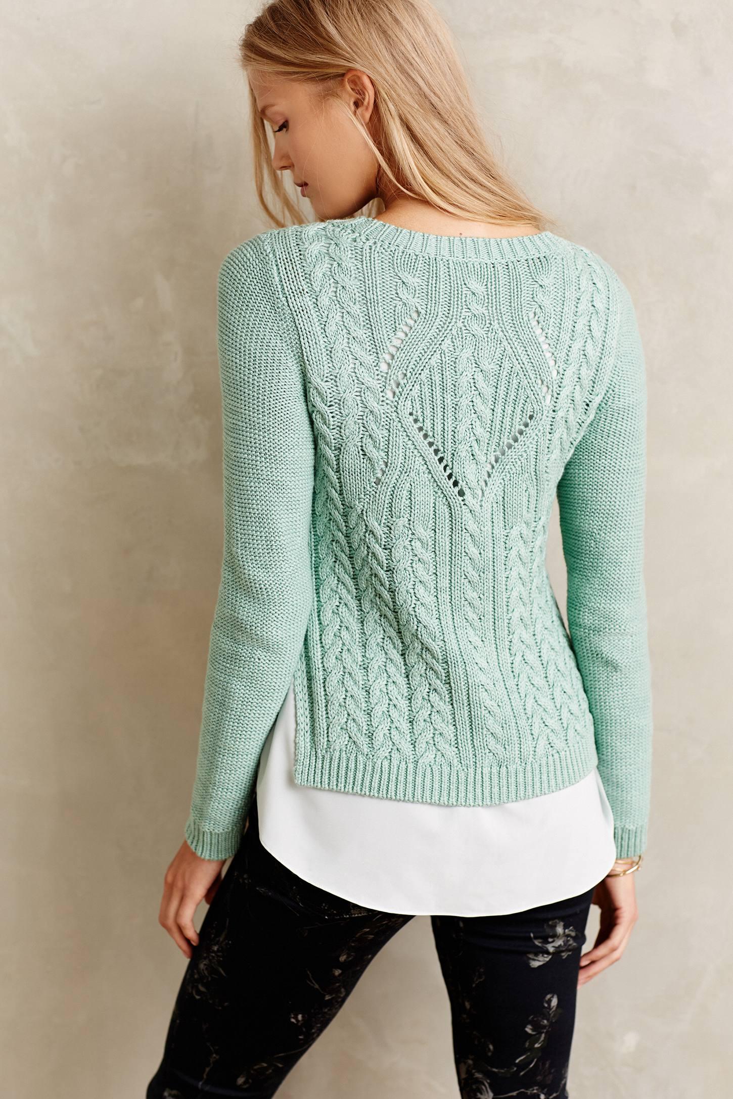 ментоловый свитер