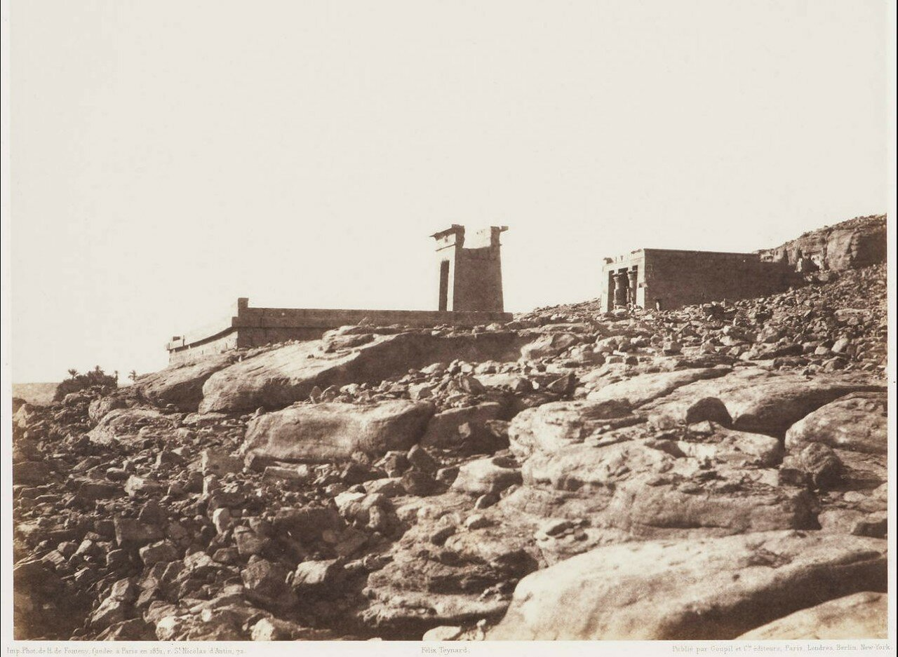 Дендера. Общий вид руин.1851