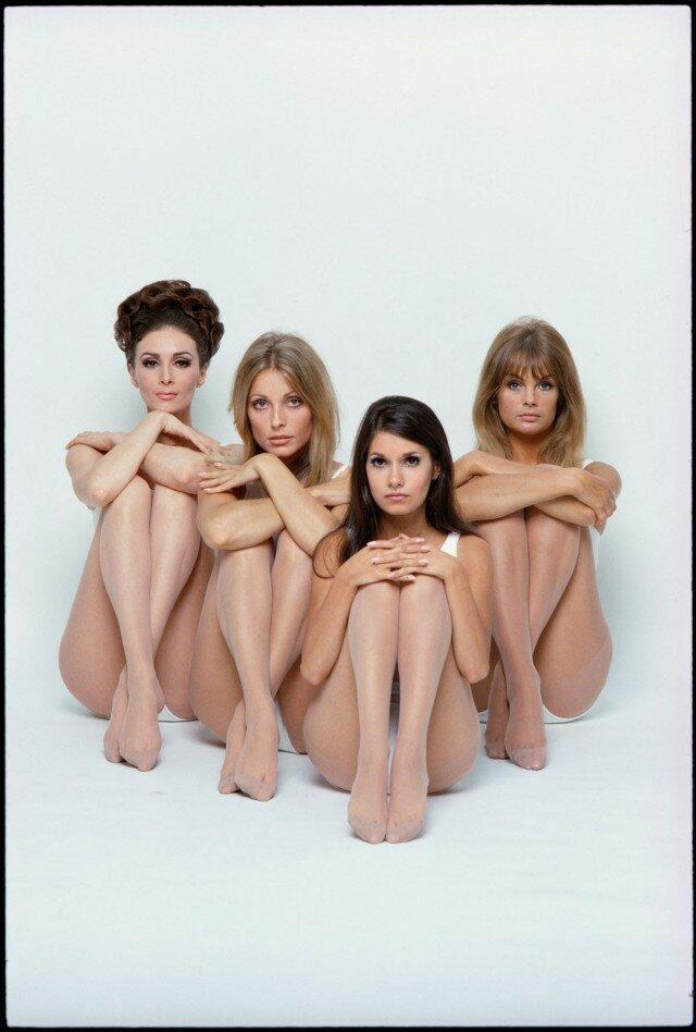Wilhelmina, Sharon Tate, Josephine Attominoff (the photographer's stylist) and Jean Shrimpton, 1967.jpg