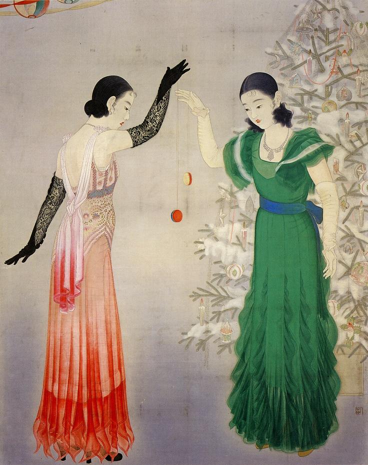 Playing Yo-Yo - 1933 Enomoto Chikatoshi 榎本 千花俊 (1898–1973).jpg