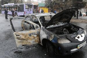 Донецк-при попадание снаряда в остановку погибло 13 человек