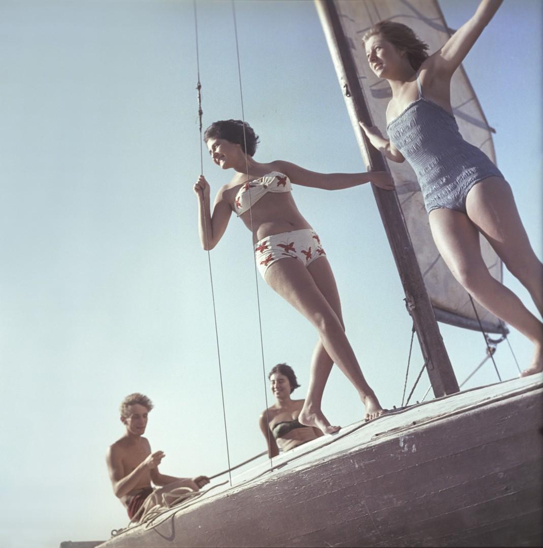 Прогулка на яхте, Московская область. 1963  Юрий Абрамочкин.jpg