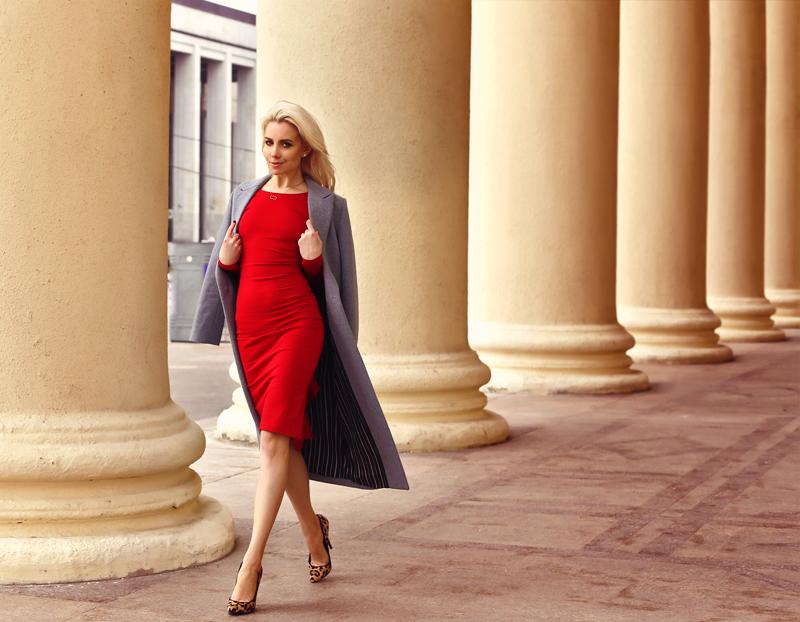 Красное платье и прогулка по городу #4.