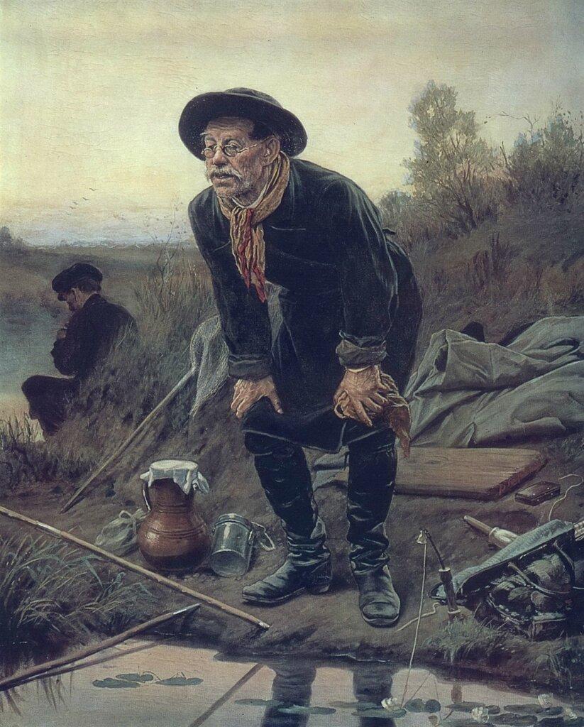 Рыболов. 1871 Холст, масло. 91x68.7 ГТГ.jpg