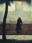 Georges Seurat (1859-1891) Man Leaning On A Parapet 1881-82. Oil on cardboard. Private Collection..jpg