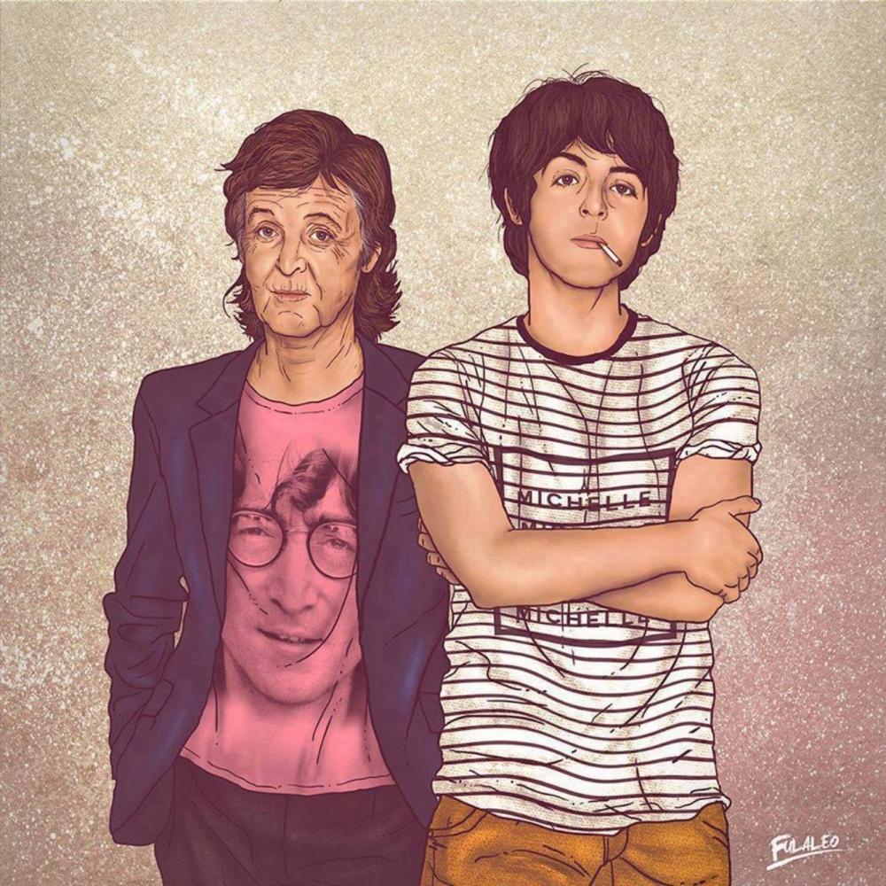 Иллюстратор показал двойное «Я» знаменитостей— изпрошлого инастоящего