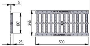 Решётка водоприемная чугунная DN200 щелевая - Схема