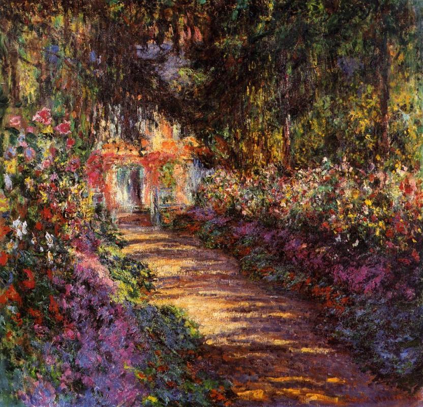 Клод Оскар Моне, Тропинка в саду Моне, Живерни, 1902 г.